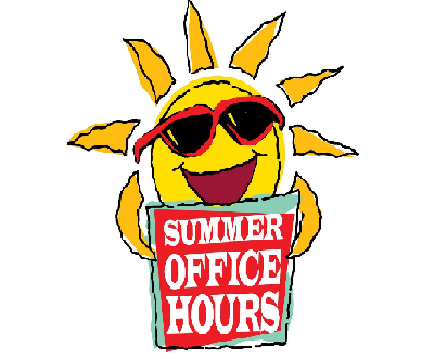 SUMMER HOURS - PARISH OFFICES CLOSING AT 12 PM ON FRIDAY'S THROUGH 8/30/2019