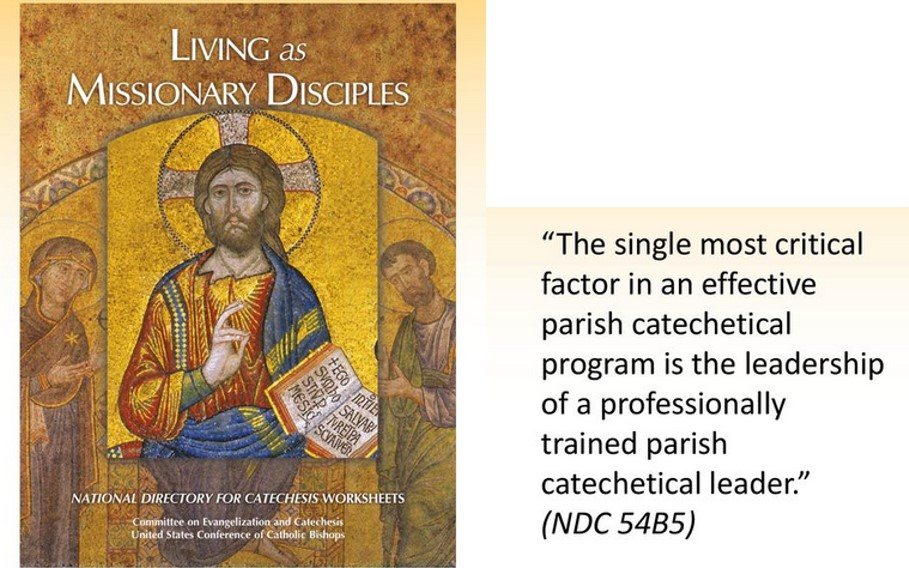 SUSPENDED FOR APRIL - 9am - 3pm Diocesan Training for Parish Catechetical Leadership - Upstairs