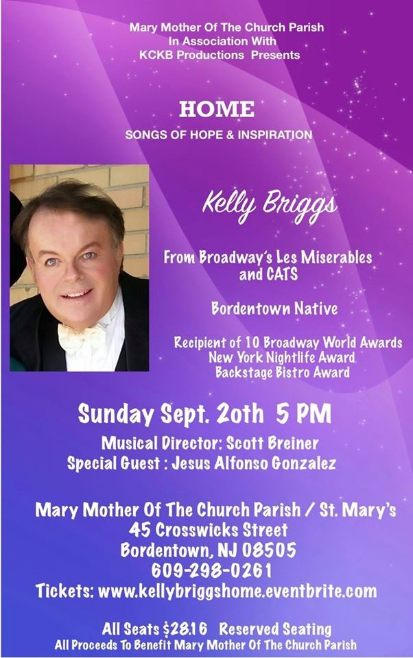 CANCELLED 5:00 pm Kelly Briggs Benefit Concert in the Church (SM)