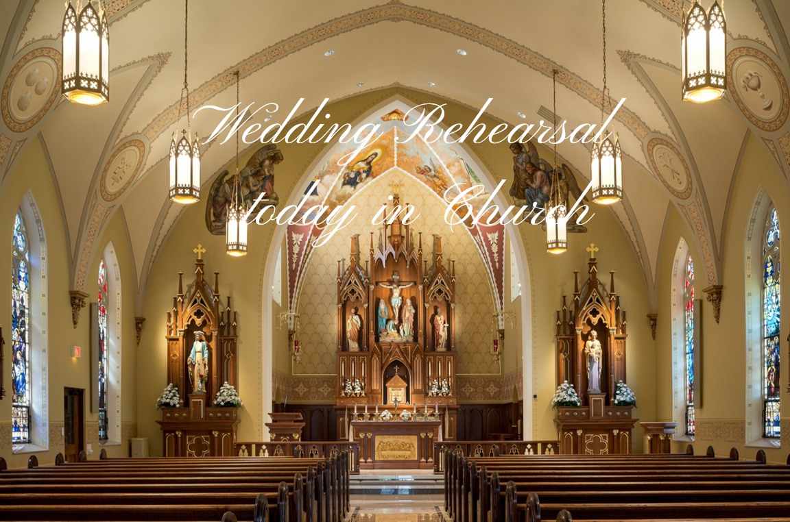 5:00 pm Wedding Rehearsal at St. Mary worship site