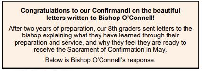Click for Bishop O'Connell's Response